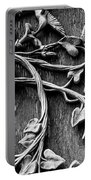 Weathered Wall Art In Black And White Portable Battery Charger