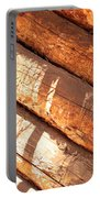 Weathered Wood Log Cabin Portable Battery Charger