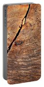 Weathered Wood On Old Tree Portable Battery Charger