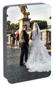 Wedding Stroll On The Ponte Sant'angelo Portable Battery Charger