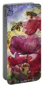 Wee Bees And Poppies Portable Battery Charger