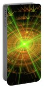 Weed Art Green And Golden Light Beams Portable Battery Charger
