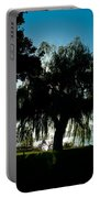 Weeping Willow Silhouette Portable Battery Charger