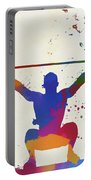 Weightlifter Paint Splatter Portable Battery Charger