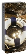 Welcome Aboard Nautical Paradise Portable Battery Charger