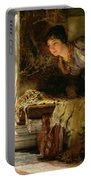 Welcome Footsteps Portable Battery Charger by Sir Lawrence Alma-Tadema
