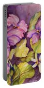 Welcome Spring Violets Portable Battery Charger