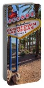 R.i.p. Welcome To Downtown Las Vegas Sign Day Portable Battery Charger