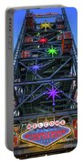 Welcome To Downtown Las Vegas Sign On Slotzilla Portable Battery Charger