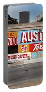 Welcome To Historic Sixth Street Is A Famous Mural Located At 6th Street And I-35 Frontage Road, Austin, Texas - Stock Image Portable Battery Charger