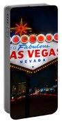 Welcome To Las Vegas Portable Battery Charger by Steve Gadomski