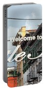Welcome To Little Italy Sign In Lower Manhattan. Portable Battery Charger
