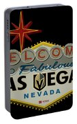 Welcome To Vegas Knights Sign Digital Drawing Portable Battery Charger