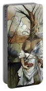 Well Suited Tree Woman Portable Battery Charger