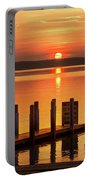 West Dnr Boat Launch July Sunrise Portable Battery Charger