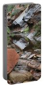 West Fork Trail River And Rock Horizontal Portable Battery Charger
