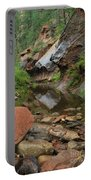 West Fork Trail River And Rock Vertical Portable Battery Charger by Heather Kirk