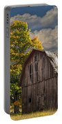 West Michigan Barn In Autumn Portable Battery Charger