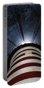West Quoddy Head Lighthouse Night Light Portable Battery Charger by Marty Saccone