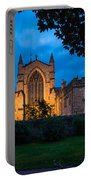 West Side Of Hexham Abbey At Night Portable Battery Charger