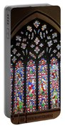 West Stained Glass Window Christ Church Cathedral 1 Portable Battery Charger