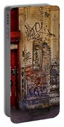 West Village Wall Nyc Portable Battery Charger by Chris Lord