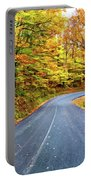 West Virginia Curves - In A Yellow Wood - Paint Portable Battery Charger