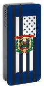 West Virginia State Flag Graphic Usa Styling Portable Battery Charger