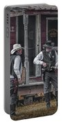 Western Cowboy Re-enactors At 1880 Town Portable Battery Charger