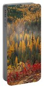 Western Larch Forest Autumn Portable Battery Charger