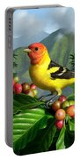 Western Tanager Portable Battery Charger by Jerry LoFaro