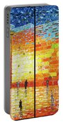 Western Wall Jerusalem Wailing Wall Acrylic Painting 2 Panels Portable Battery Charger