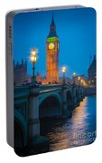 Westminster Bridge At Night Portable Battery Charger