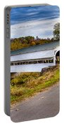 Westport Covered Bridge Portable Battery Charger by Jack R Perry