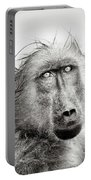 Wet Baboon Portrait Portable Battery Charger