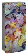 Wet Fall Leaves Portable Battery Charger