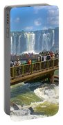 Wet Walkways In The Iguazu River In Iguazu Falls National Park-brazil  Portable Battery Charger