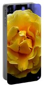 Wet Yellow Rose  Portable Battery Charger