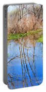 Wetlands Viewing Area In Chatfield State Park Portable Battery Charger