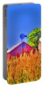 Wheat Farm Near Gettysburg Portable Battery Charger