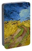 Wheat Field With Crows At Wheat Fields Van Gogh Series, By Vincent Van Gogh Portable Battery Charger