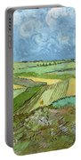 Wheat Fields After The Rain, The Plain Of Auvers Portable Battery Charger