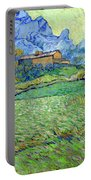 Wheat Fields In A Mountainous Landscape, By Vincent Van Gogh, 18 Portable Battery Charger