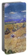 Wheat Fields With Reaper, Auvers Portable Battery Charger