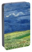 Wheatfield Under Thunderclouds At Wheat Fields Van Gogh Series, By Vincent Van Gogh Portable Battery Charger