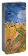 Wheatfield With Crows Portable Battery Charger by Vincent van Gogh