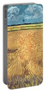 Wheatfield With Sheaves Portable Battery Charger