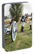 Wheeling The Cannon At Fort Mchenry In Baltimore Maryland Portable Battery Charger