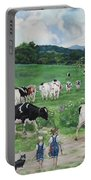 When The Cows Come Home, It's Milking Time Portable Battery Charger