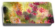 Where The Pink Flowers Grow Portable Battery Charger